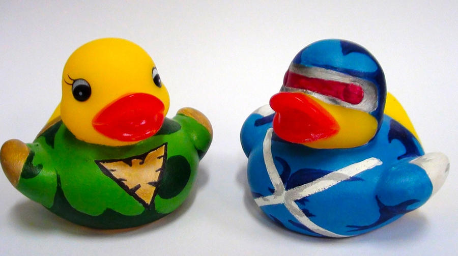 Cyclops and Poenix Duckies by Caen-N