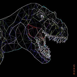 Low Poly T-Rex glow