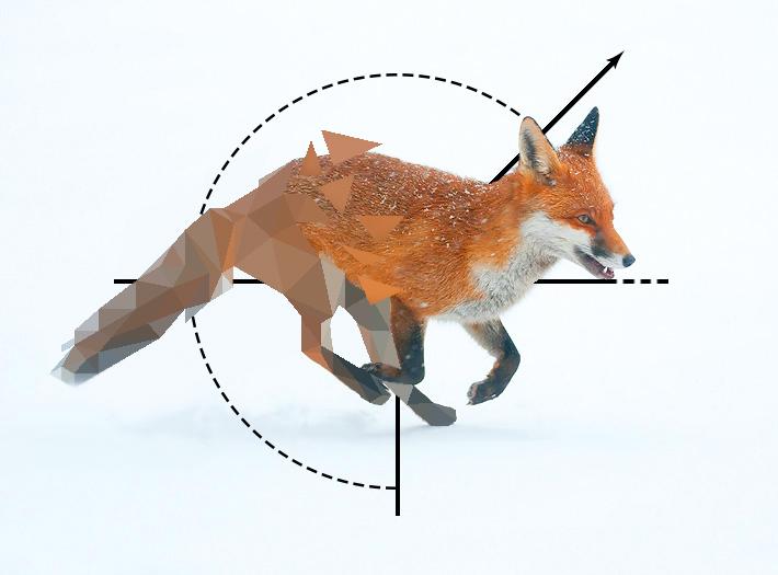 Broken Low Poly Fox2 by Caen-N