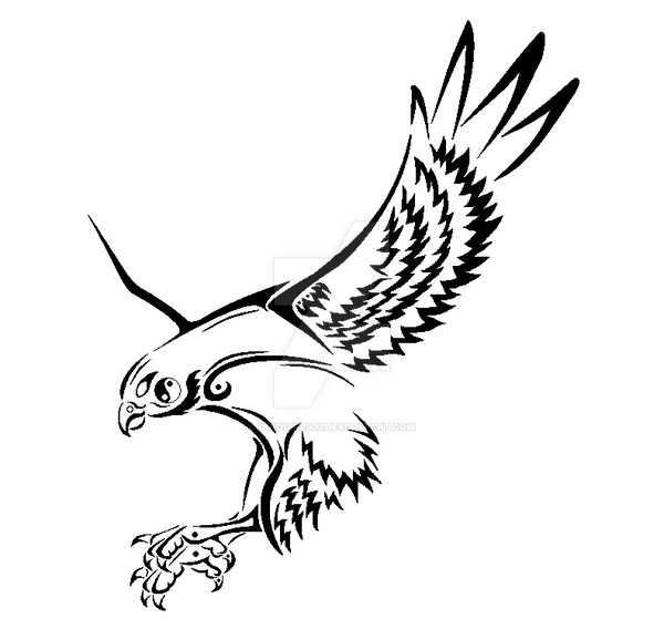 e878b122c How to draw tribal eagle