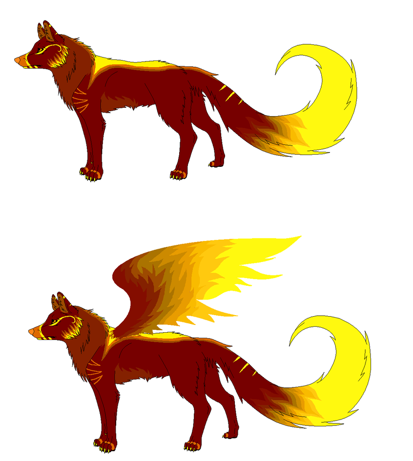 Fire Wolf Adopt (CLOSED) by DinoGirl500 on DeviantArt Anime Fire Wolves With Wings