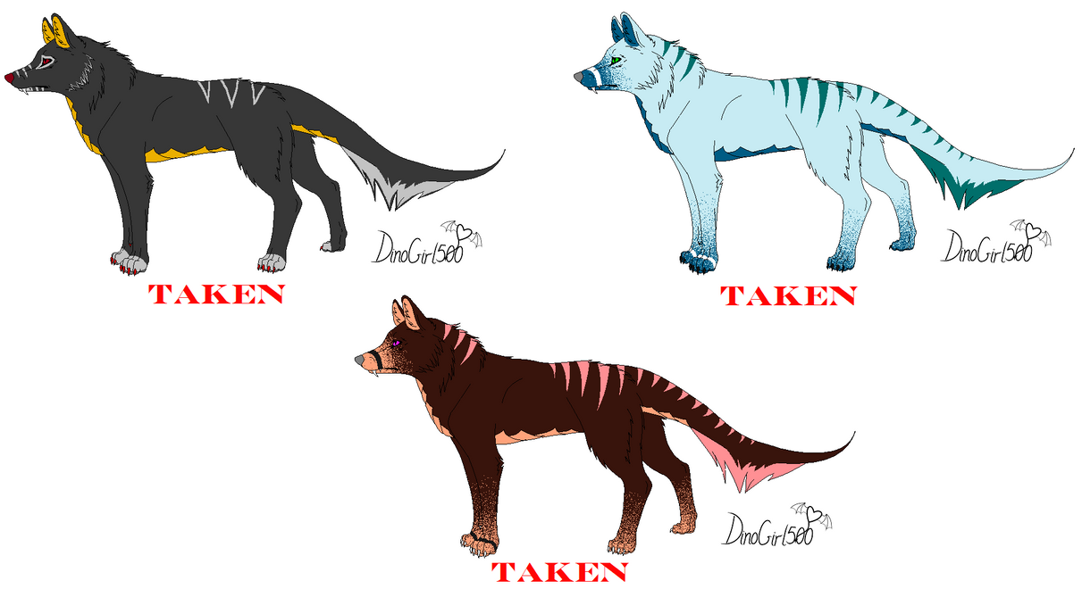 Draw A Dragon Head Wolf Hybrid Adopts (closed) By Dinogirl500