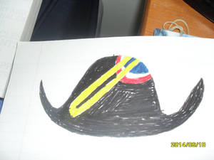 Bicorn hat drawing attempt