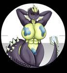 Micro-Babe Pinups: Super Godzilla by Sir--Raptor