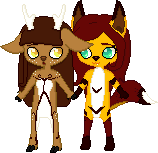 Furendship Pixels: Akira and Meynomi by TentaVamp
