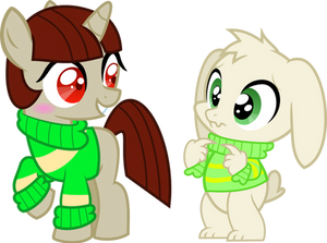 MLP!Chara and Asriel Vector