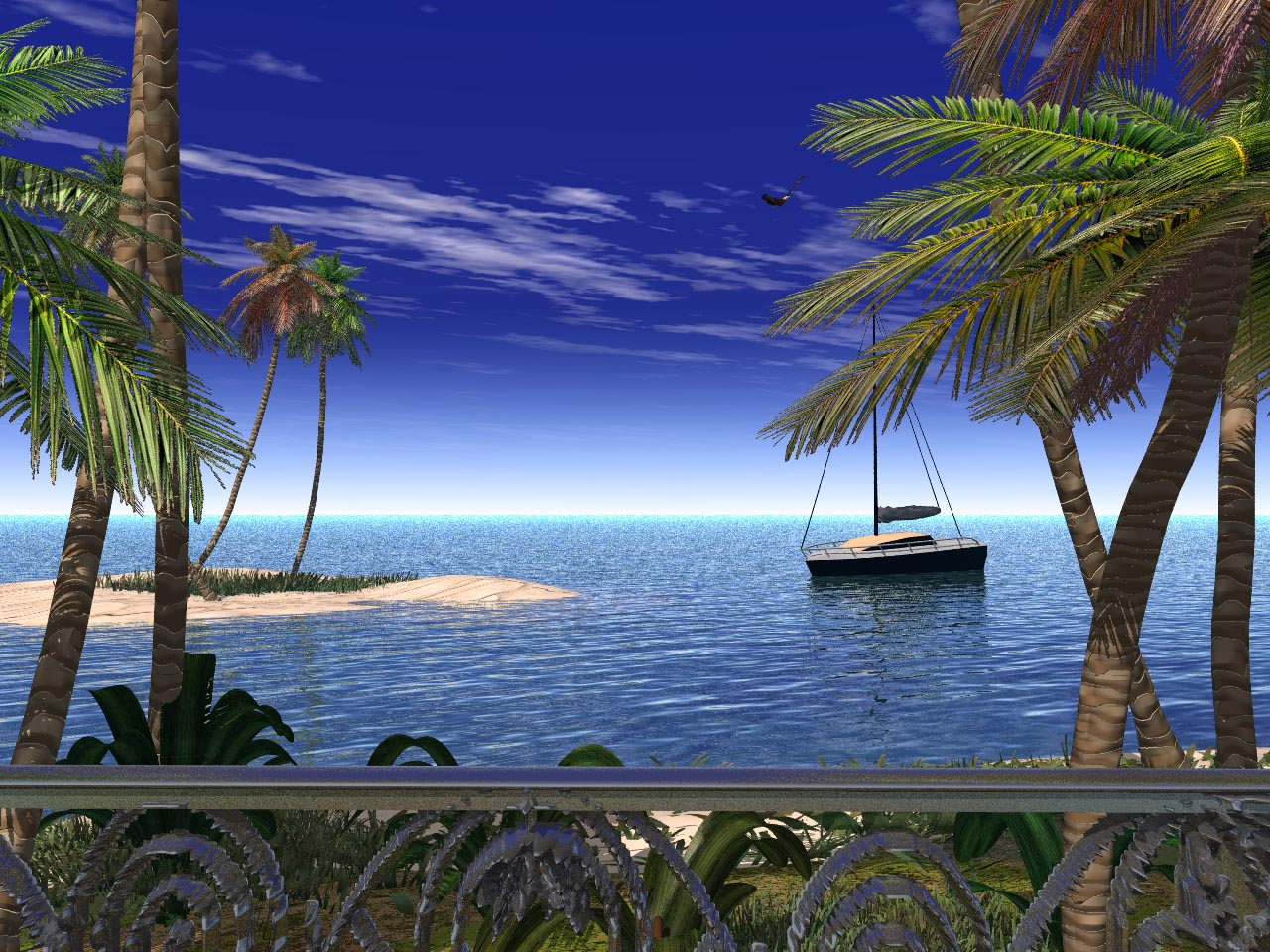 Balcony view by zedkhov on deviantart for Balcony view wallpaper