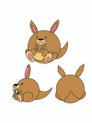 Kangaroo and joey squishable! by thetoonmanjoe