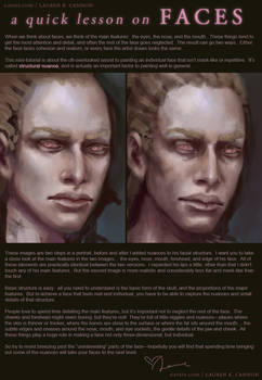 A quick lesson on FACES