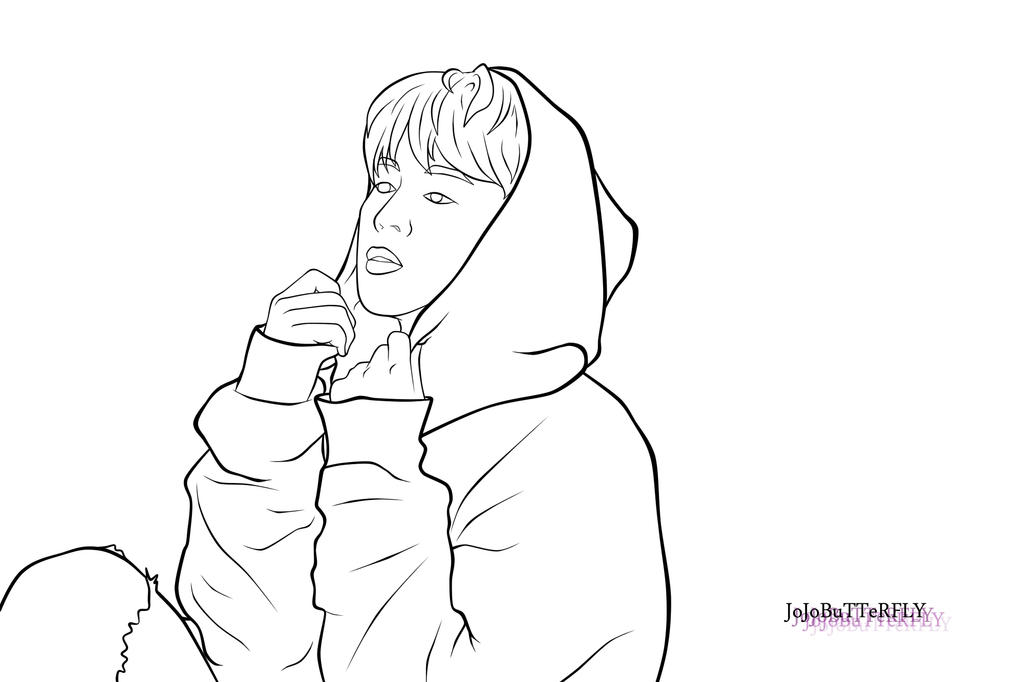 Bts V Free Coloring Pages