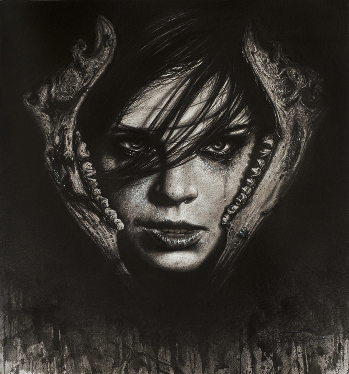 Trapped (mixed drawing techniques) by KaradjinovicMarko