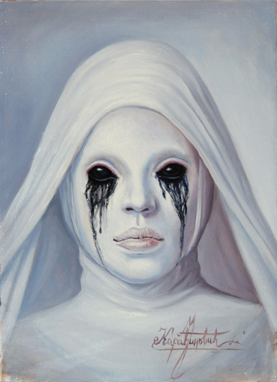 My tribute to American Horror Story (oil on panel) by KaradjinovicMarko