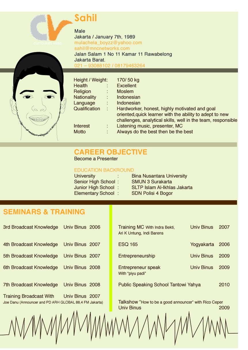 Curriculum Vitae By Effieherdi On Deviantart