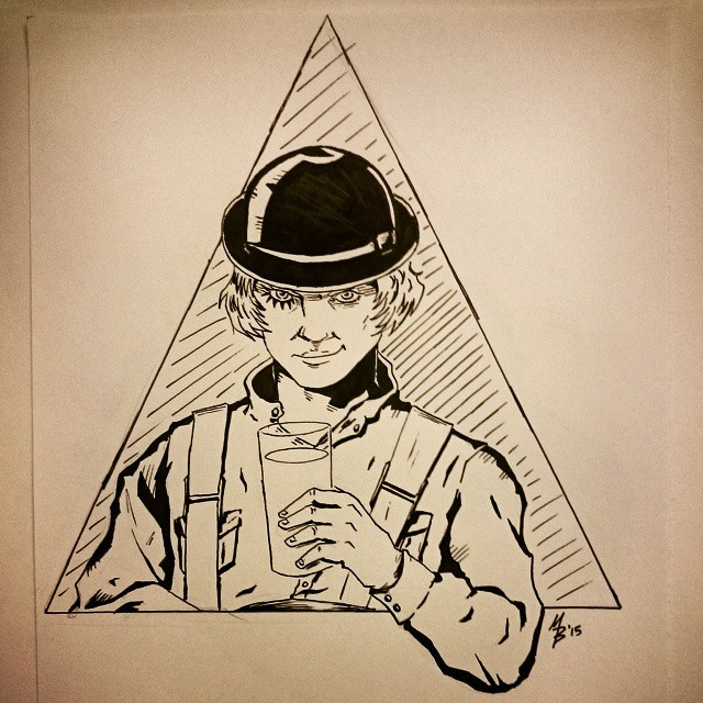 Alex from A Clockwork Orange by mertbaran