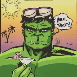 Hulk on Vacation. by mertbaran