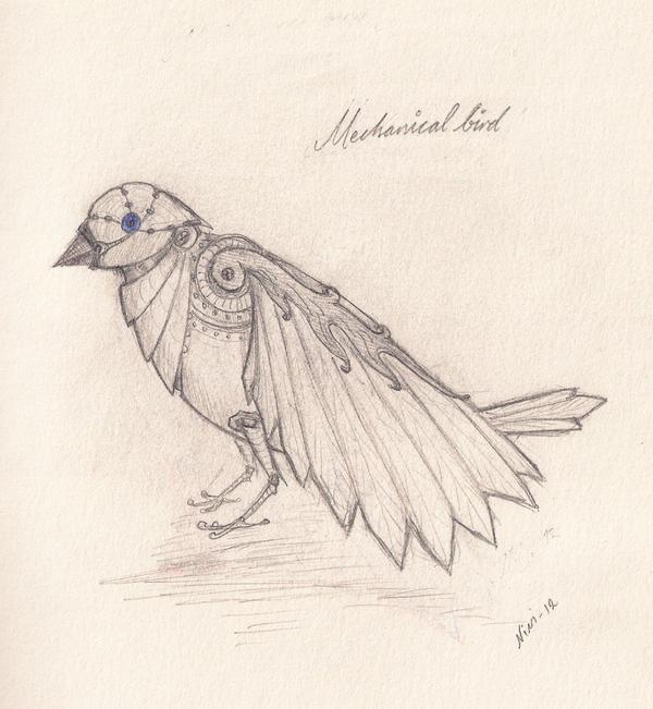 mechanical bird by niniforssmed on deviantart
