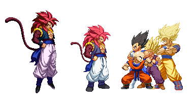 SSJ4 Gogeta Z2 (EB to Z2 conversion) by barker09