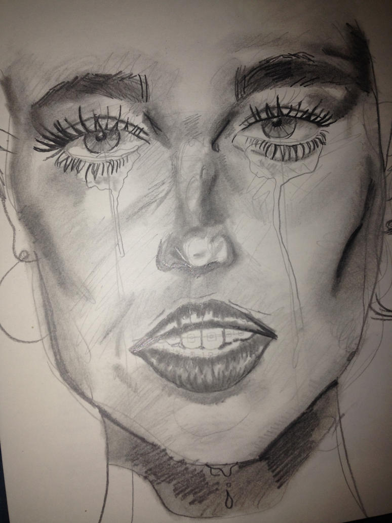 crying woman sketch by sunflowereffect on deviantart