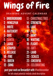 Wings of Fire Drawing Advent Calendar by Lycania9