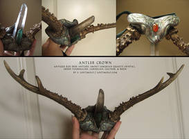 Antler Crown by bonegoddess