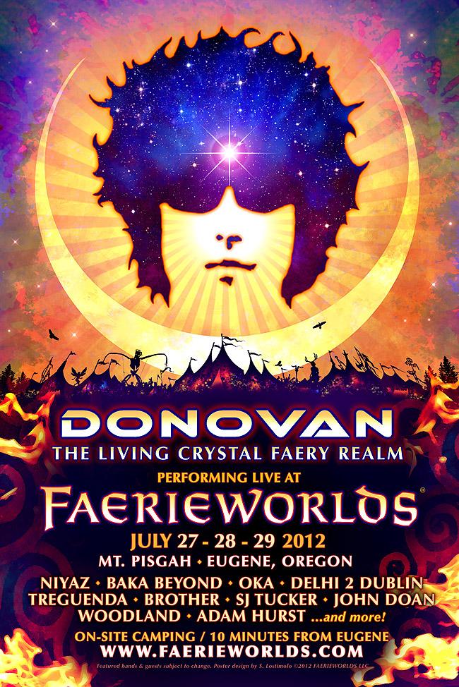 FAERIEWORLDS 2012 - Donovan Poster by bonegoddess