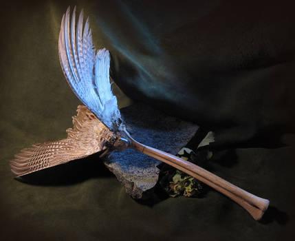Avian Spectre Smudging Fan or Wand