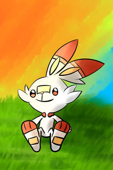 Scorbunny watching the Sunset