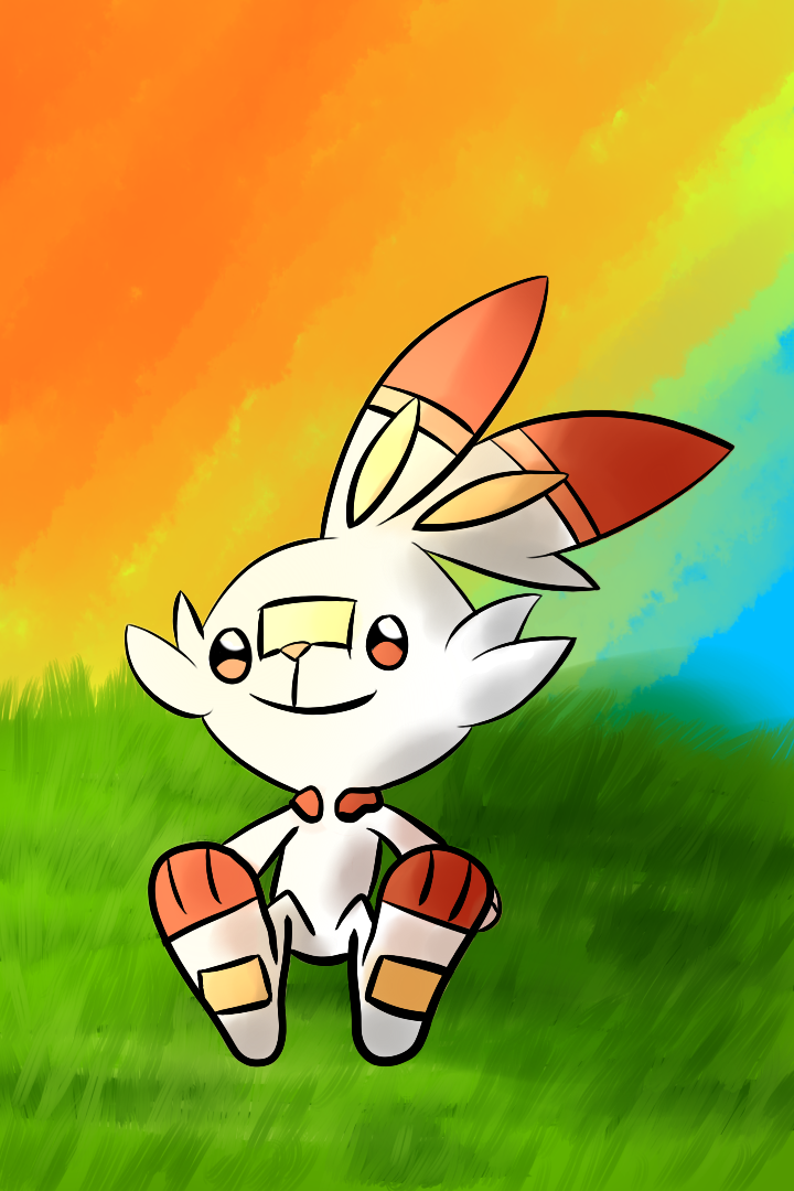 Scorbunny watching the Sunset by Wubzod