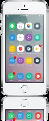 Mochi iOS7 - Home Screen by congapc