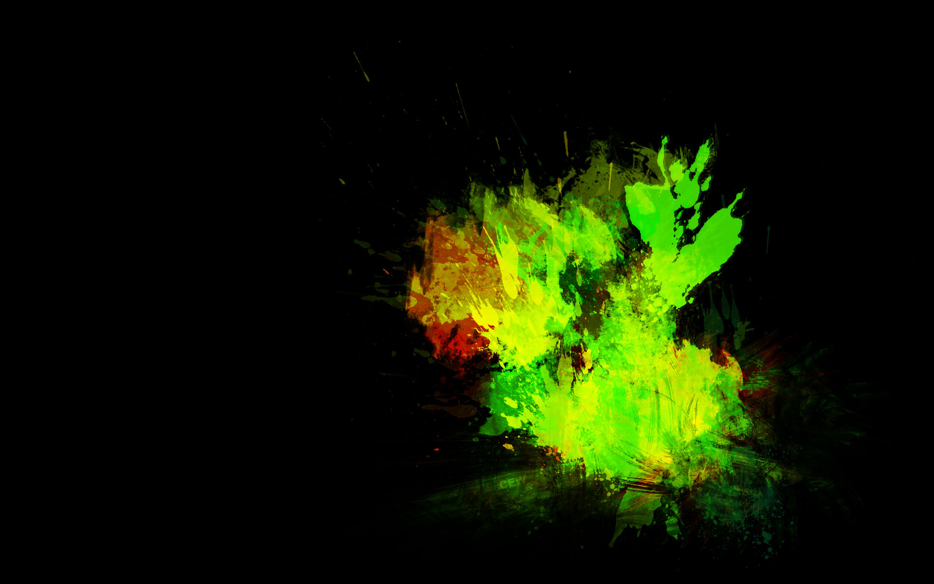 Pictures of Neon Green Splatter Background - #rock-cafe