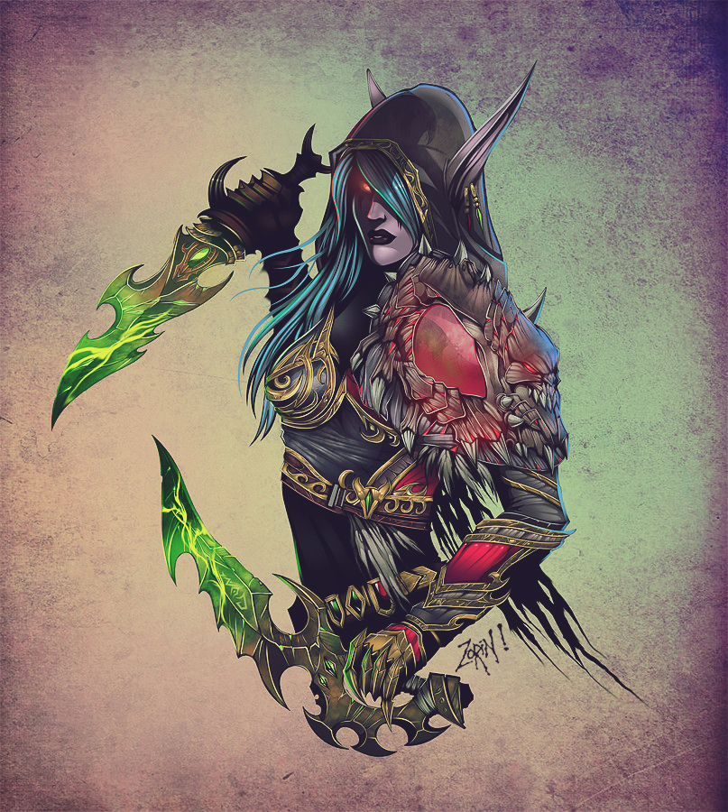 Warcraft- Night Elf Rogue ( For the Alliance ) by Trustkill-Jonathan