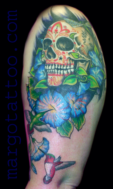 candy skull tattoo. skull tattoos