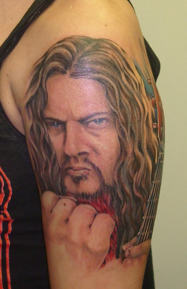 dimebag - shoulder tattoo