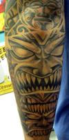 Tiki sleeve side 1 by Ogra-the-Gob