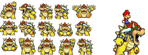 Giga Bowser Sprites old work that i don't ...