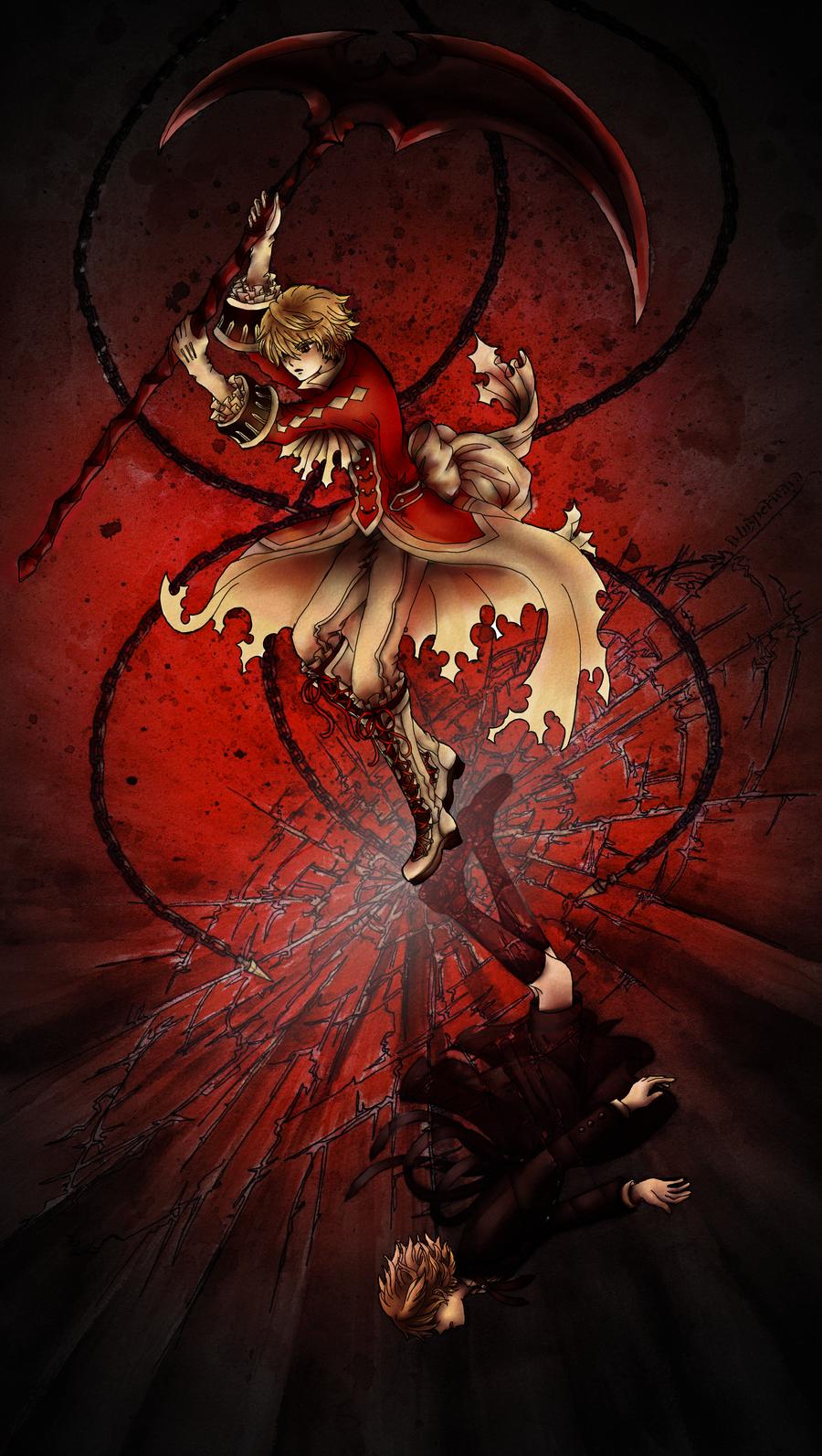 Bloodstained Black Rabbit by WhisperWaya
