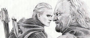Legolas and Theoden by thehiddensapphire