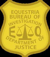 Equestria Bureau of Investigation Badge by Lahirien