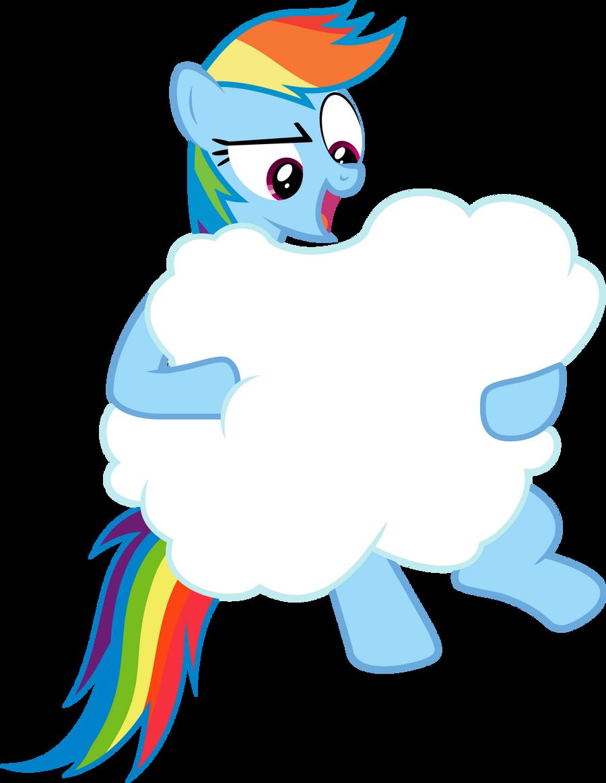 Rainbow Dash: Cloud Wrangling by Lahirien