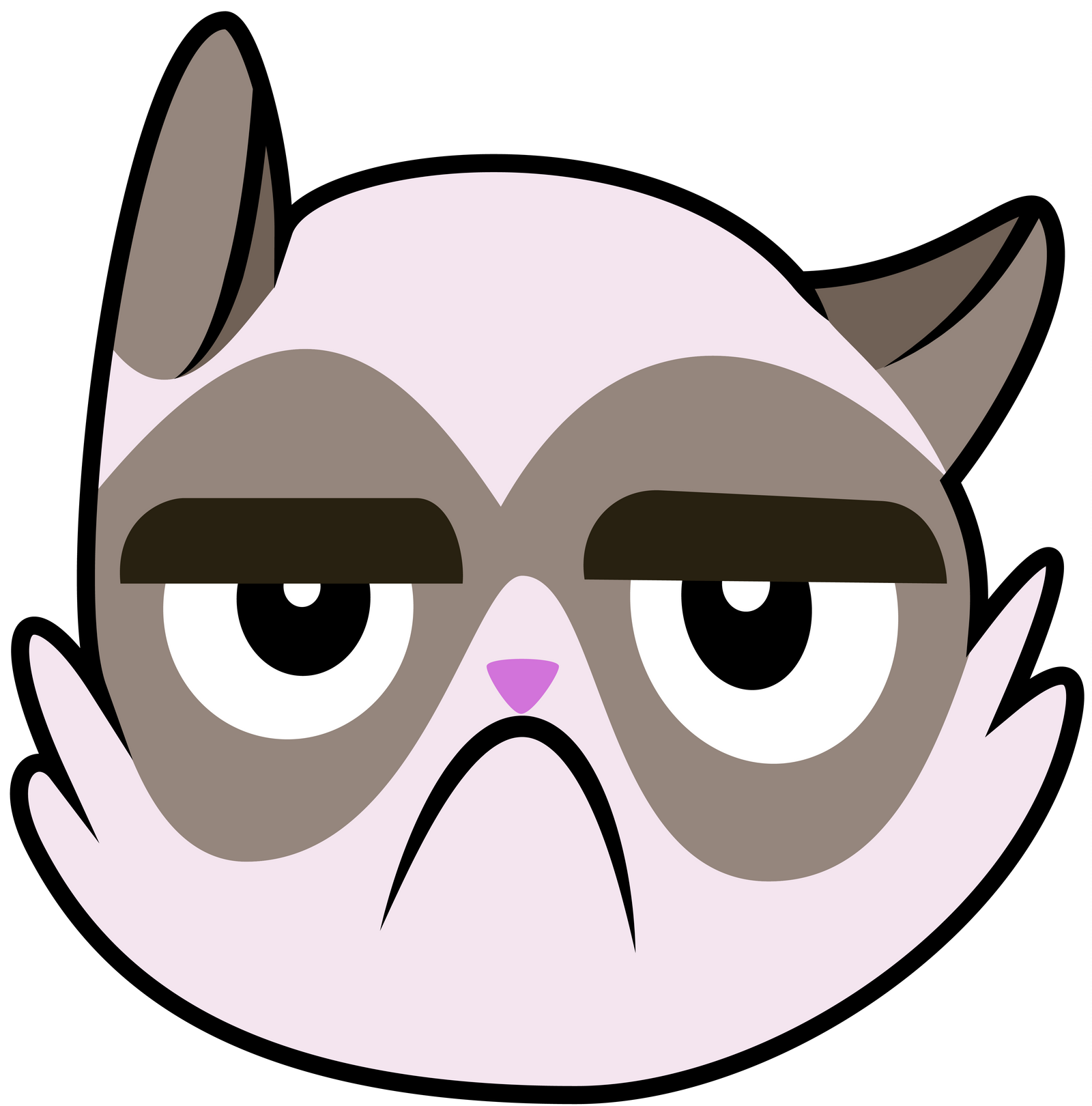clipart grumpy cat - photo #12