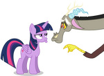 Discord and Twilight: Pouty Face