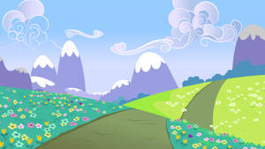 Rolling Hills Path Near The Crystal Empire