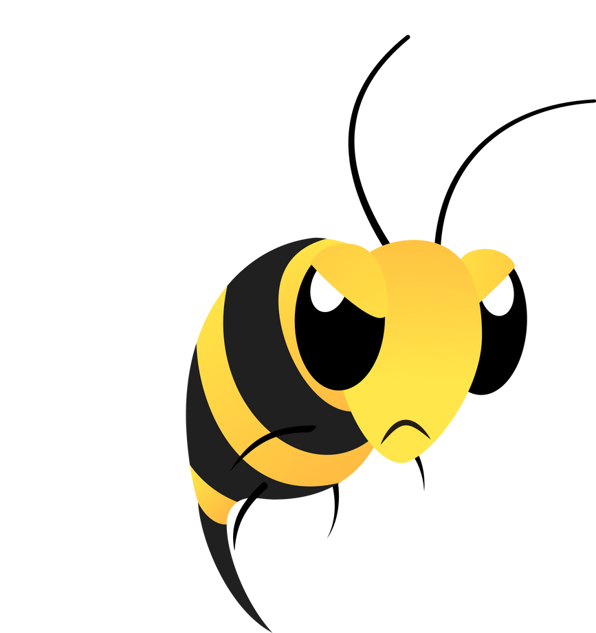mlp resource angry bee by lahirien on deviantart Black and White Bee Vector Vintage Bee Vector