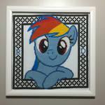 Hey There! (Rainbow Dash Cross Stitch)