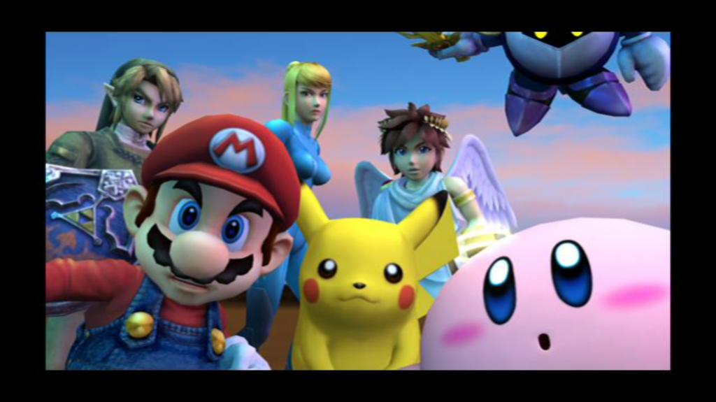 Link, Mario, Zero Suit Samus, Pikachu, - 494.2KB