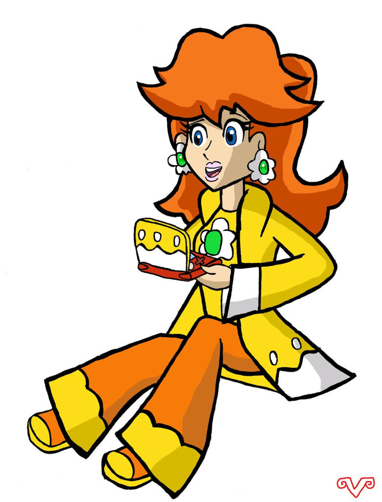 SMB: Daisy and her New 3DS XL by VickyJ