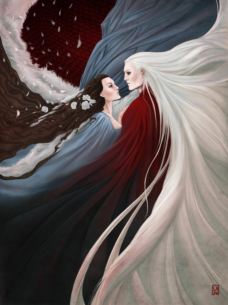 Lyanna + Rhaegar by Gudulett-e