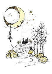 Lily meets The Moon and Bazin