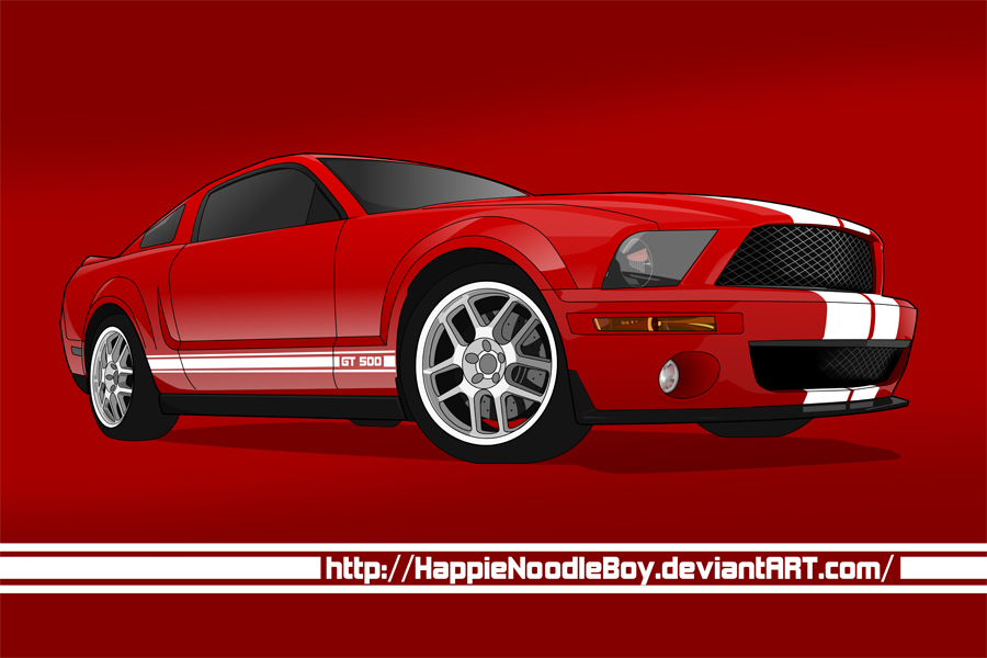 Mustang GT 500 by happienoodleboy
