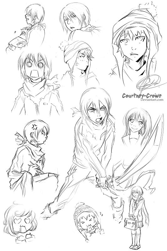 Norigami sketches by Courtney-Crowe